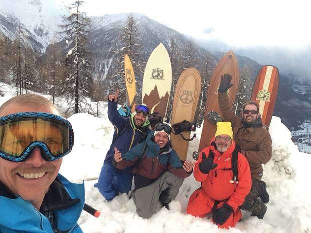 PLP party & board test Sestriere (foto fb gionata craviotto)