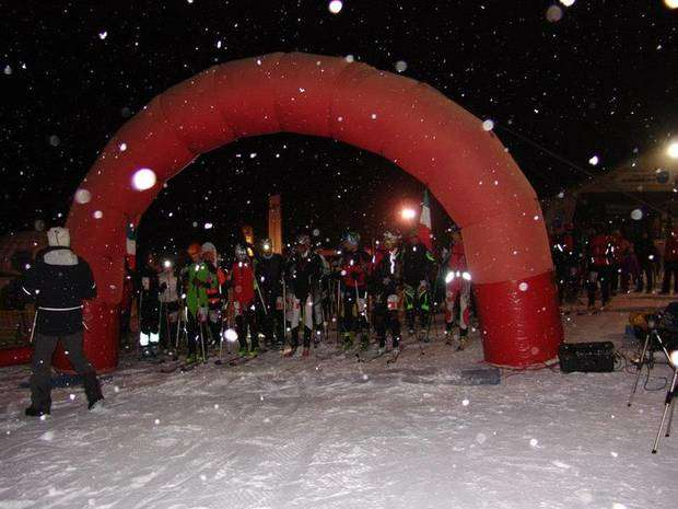 Una bella nevicata ha salutato l'Abetone Night Race