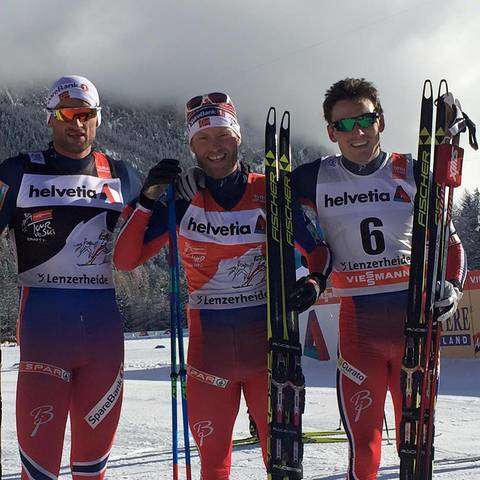 Ancoro un podio norvegese al Tour de Ski (foto FB fis cross country skiing)
