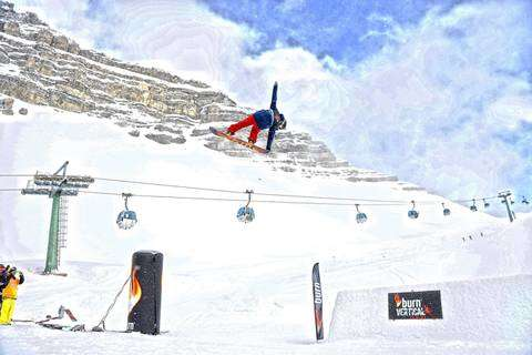 Slopestyle al Burn Vertical Tour