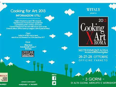 Cooking for Art 2013 Roma