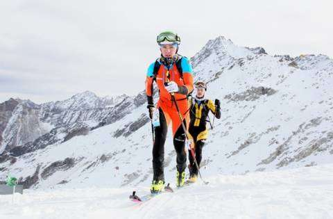 Davide Magnini all'Adamello Ski Raid Junior (foto pegasomedia)