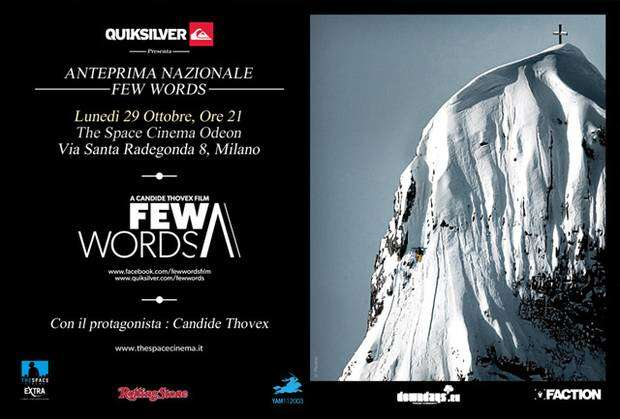 Few Words con Candide Thovex