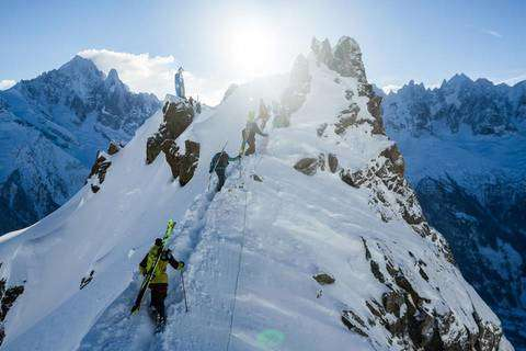 Freeride World Tour Chamonix apertura (foto fb Freeride World Tour)
