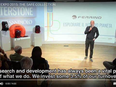 The Safe Collection Ferrino all'Expo