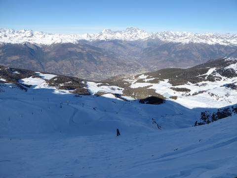 Il panorama dal Couis 1 Pila Snowland