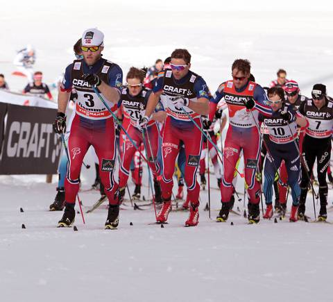 Martin Sundby in azione in Val di Fiemme (foto newspower)