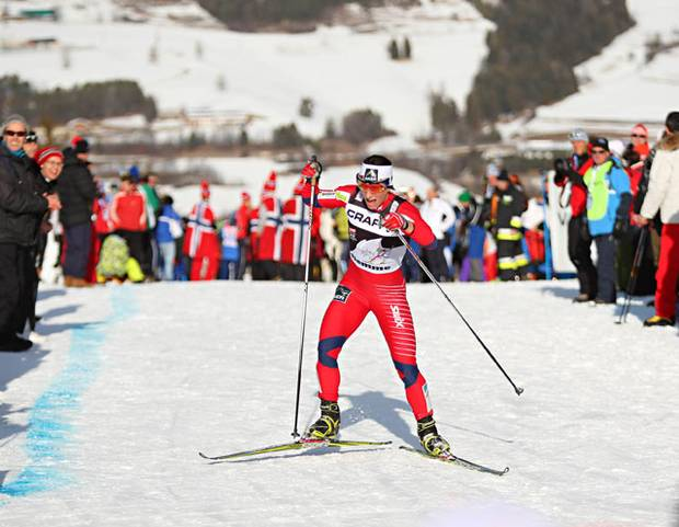 Marit Bjoergen all'ultimo Tour de Ski (foto Newspower)