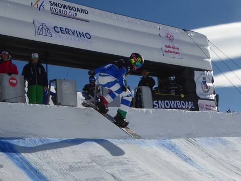 Michela Moioli prima in qualifica nello SBX di Coppa del Mondo a Cervinia