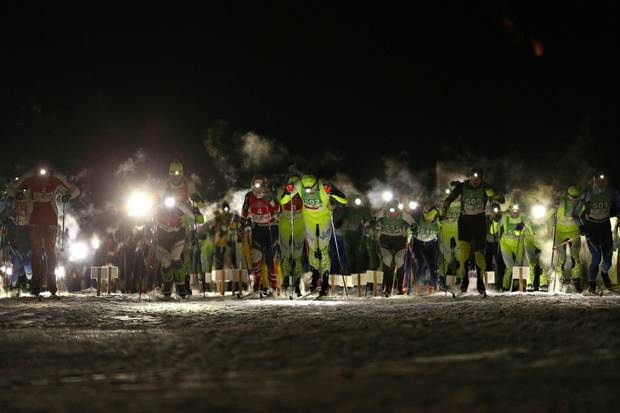 Partenza Moonlight Classic dell'Alpe di Siusi (foto newspower)