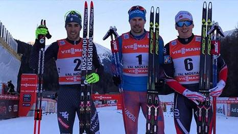 Podio Sprint Val Mustair Tour de Ski (foto fb fis cross country)