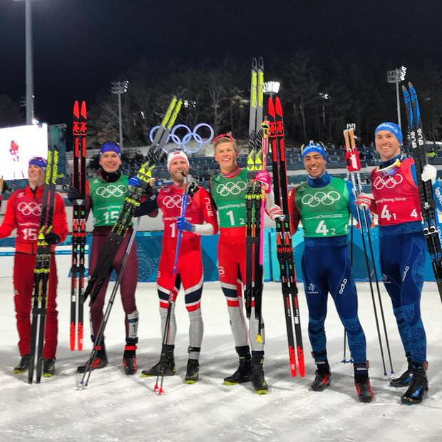 Podio Team Sprint maschile (foto fis crosscountry)