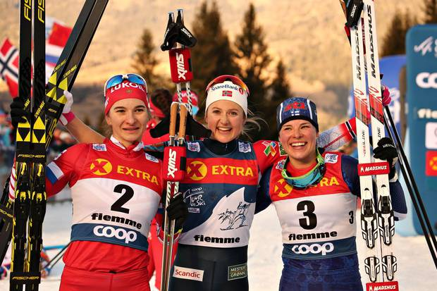 Podio femminile Tour de Ski (foto newspower)