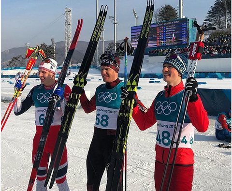 Podio maschile 15 km tecnica libera (foto fb fis crosscountry)