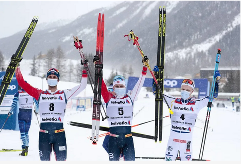 Podio maschile 50km Engadina (foto fis crosscountry)