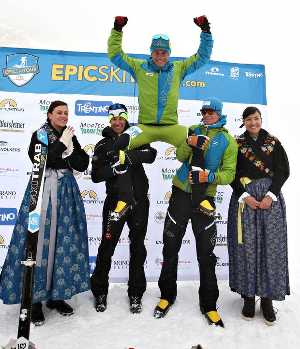 Podio maschile La Sportiva Epic Ski Tour (foto newspower)