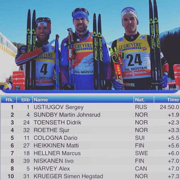 Podio maschile seconda tappa Tour de Ski (foto fb Fis)
