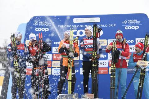 Podio maschile team event Dresda (foto fiscrosscountry)