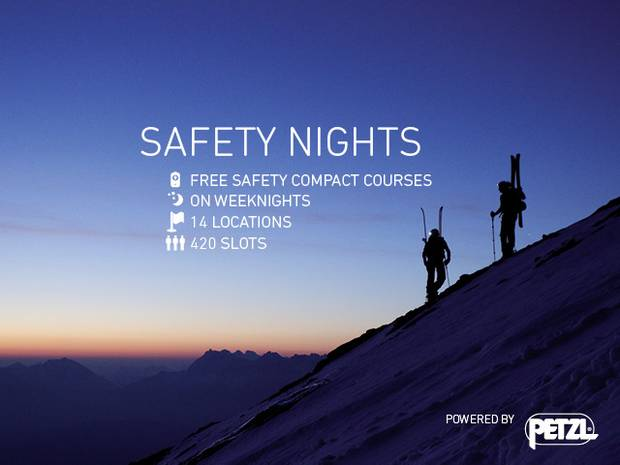 Safety Nights con Ortovox e Petzl