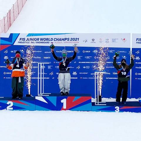 Tabanelli bronzo nel freeski Big Air ai Mondiali junior di Krasnoyarsk (foto italian freeski team)