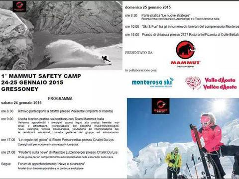 Volantino Mammut Safety Camp Monterosa Ski