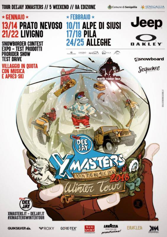 Volantino Deejay Xmasters Winter Tour