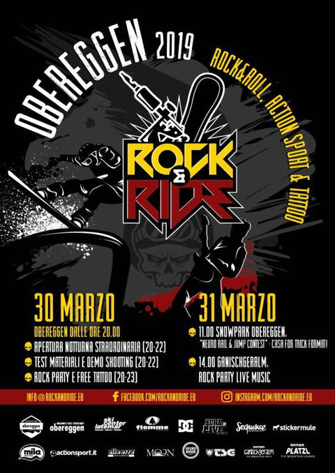 Volantino Obereggen Rock and Ride