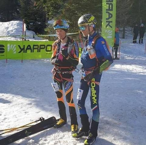 William Boffelli e Matteo Eydallin al Tour del Monscera (foto skimo stats)