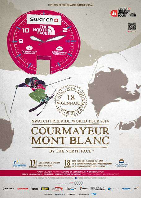 Freeride world tour courmayeur Mont Blanc poster 2014