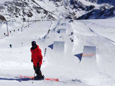 Markus Eder in snow park