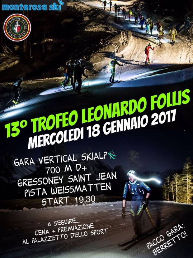 Trofeo Leonardo Follis Gressoney Saint Jean Tour Ski Alp